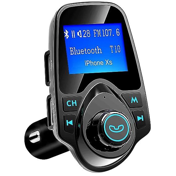 amazon com victsing bluetooth fm transmitter for car, wirelessvictsing bluetooth fm transmitter for car, wireless radio transmitter adapter with power off function,