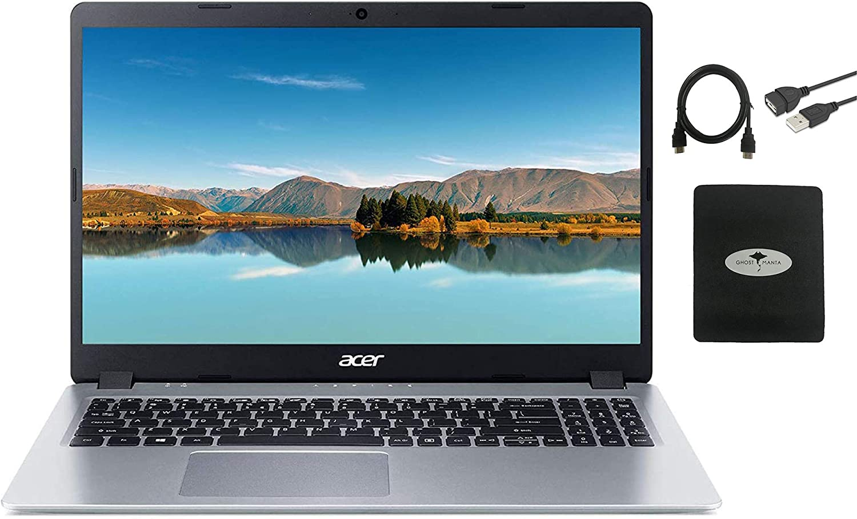 2021 Acer Aspire 5 Slim Laptop 15.6 FHD IPS Display, AMD Ryzen 3 3200u (up to 3.5GHz), Vega 3 Graphics, 8GB RAM, 512GB PCIe SSD Backlit KB,WiFi,HDMI, Win 10 w/GM Accessories
