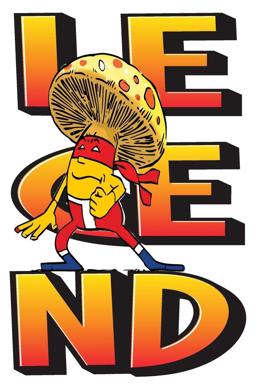 Legend Mushroom Ninja: 6x9 College Ruled Line Paper 150 ...