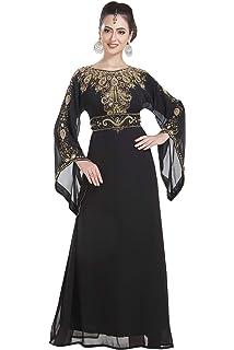 ab9a683d62 Islamic Fashion Party Wear Gennie Aladdin Fancy Maxi Dress Jalabiya Abaya  7149
