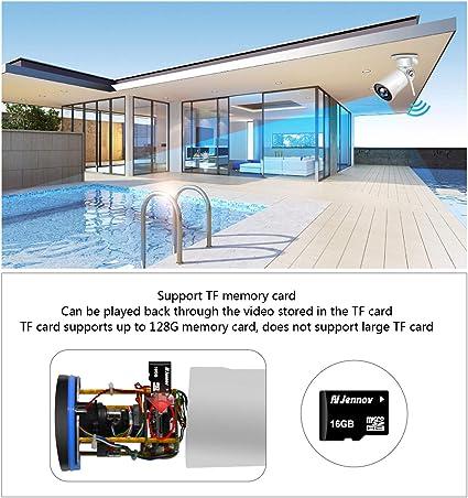 SGLL Cámara Web de Alta definición, Lente de 2 megapíxeles y 3,6 mm con Sonido WiFi, cámara de vigilancia a Distancia con cámara a Prueba de Agua 1080P al Aire Libre: Amazon.es: