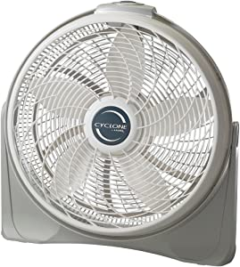 "Lasko 3520 20"" Cyclone Pivoting Floor Fan, Silver"