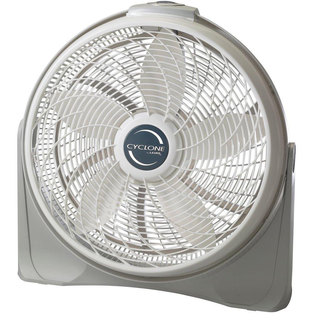 Lasko 3520 20″ Cyclone Pivoting Floor Fan, Silver