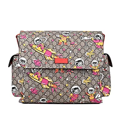 6279c3177c7b Amazon.com: Gucci Space Cats Cat GG Canvas Diaper Bag Baby Beige Multicolor  Orange Italy New: Shoes