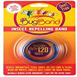 Bug Band 88207 Plastic Blister Card Wrist Insect Repelling Band, Blue
