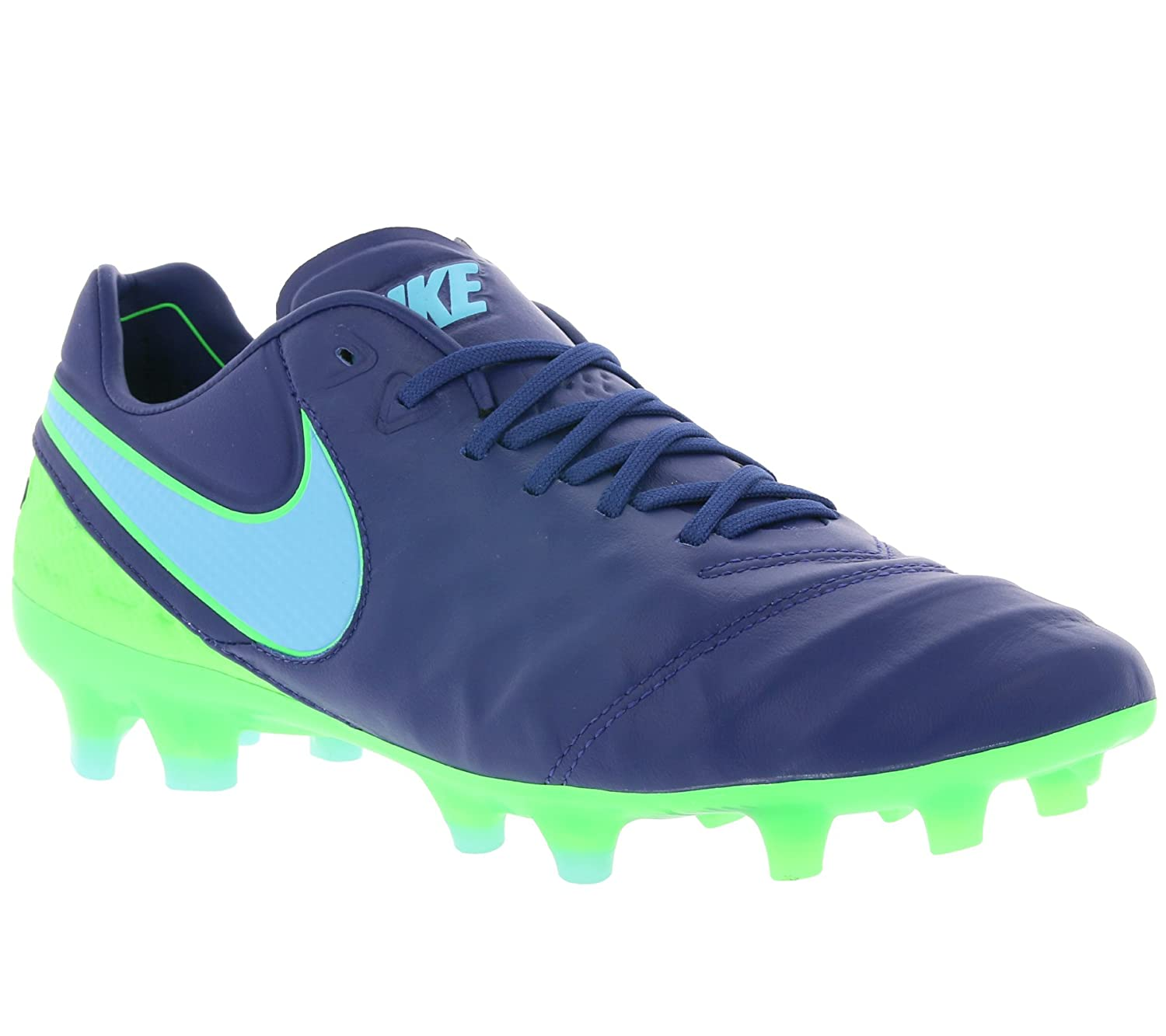 newest b2376 70f08 Nike Mens Tiempo Leather Cleats Soccer Shoes Green 9 Medium ...