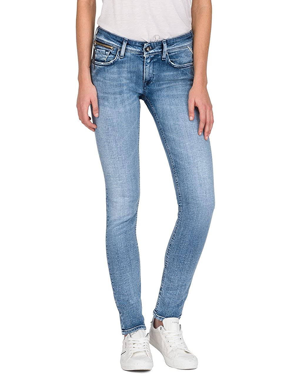 Replay Luz Coin Zip, Jeans Mujer