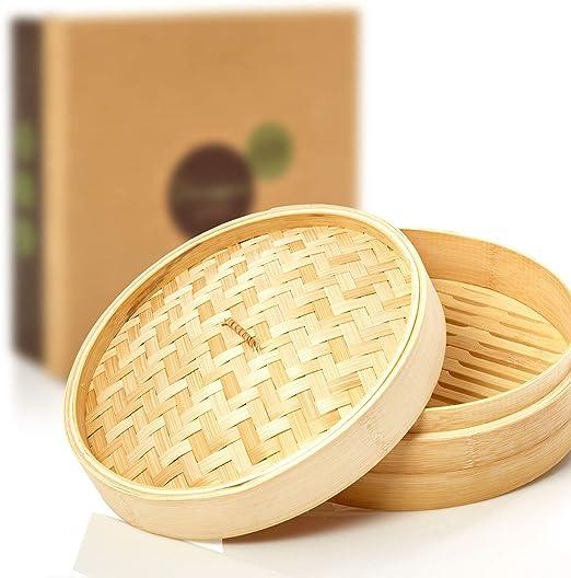 20 cm braun Ibili Dampfgarer-Set Bambus 3-Einheiten
