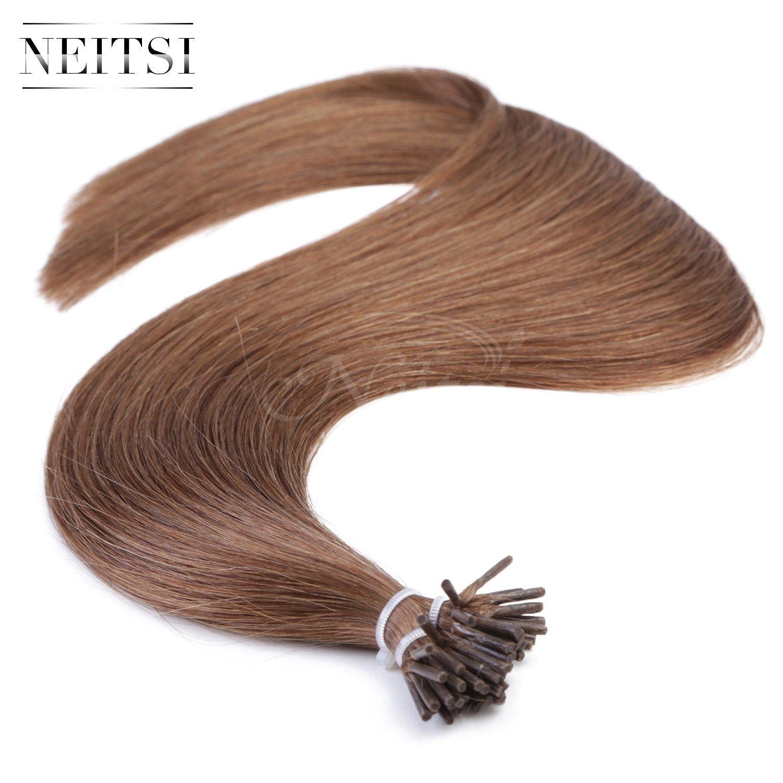 Amazon Neitsi 20 Straight Stick I Tip Remy Human Hair