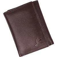 HORNBULL Trifold Brown Men's Genuine Leather Wallet