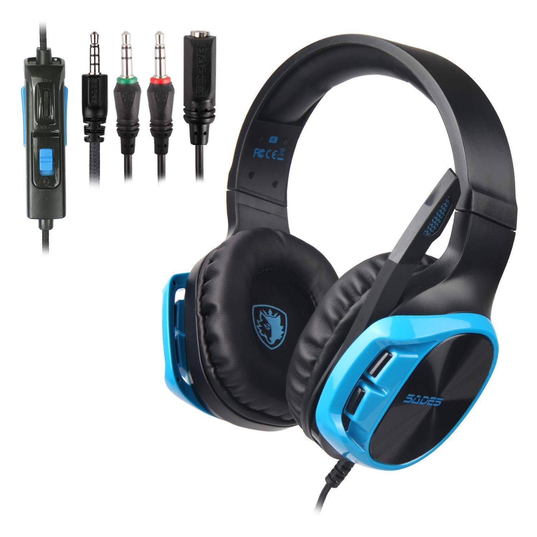 Auriculares Gamer : SADES R17 para PS4 Xbox One Black-Blue