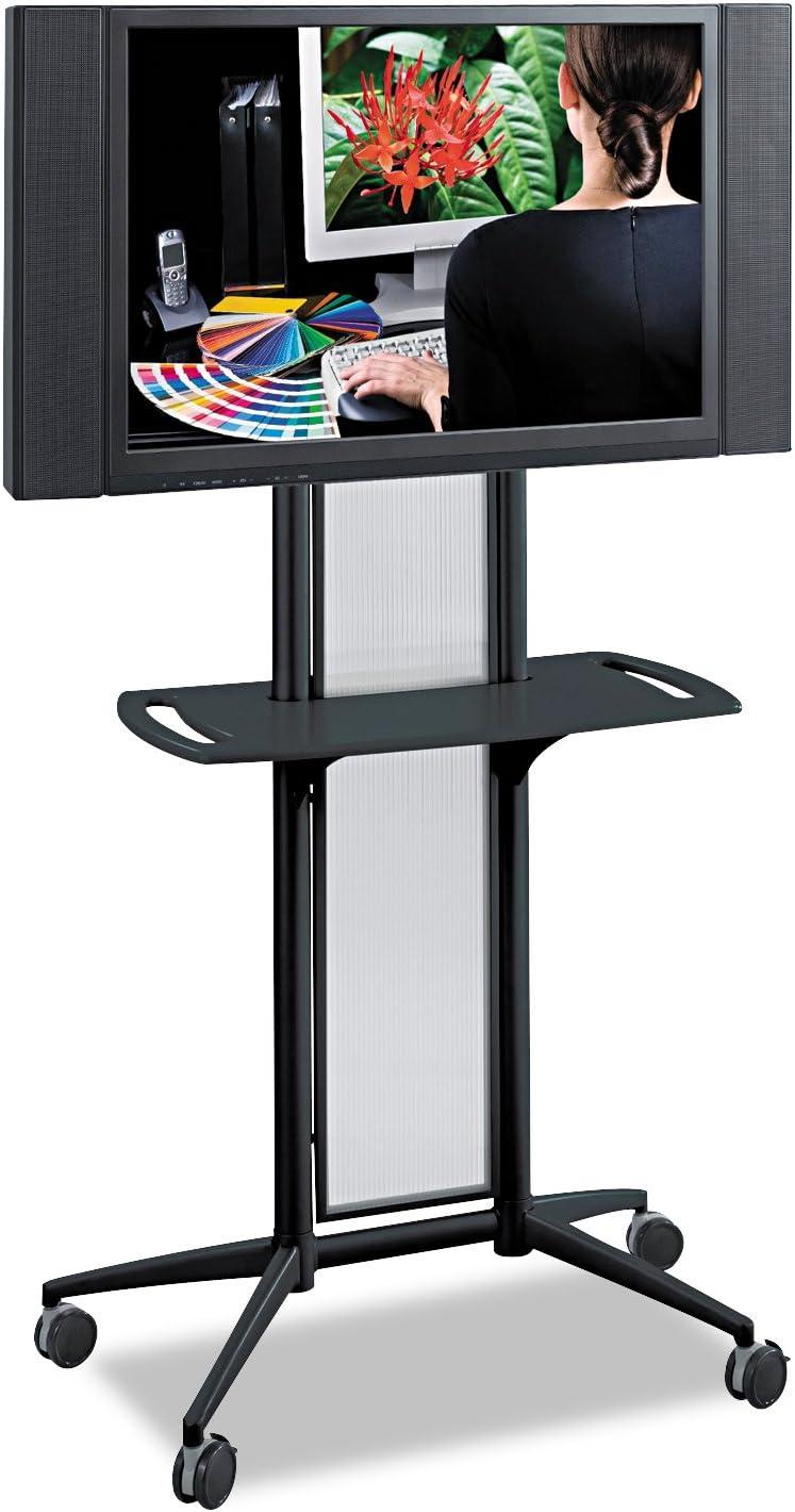 Safco Products 8926BL Impromptu Flat Panel TV Cart , Black Frame