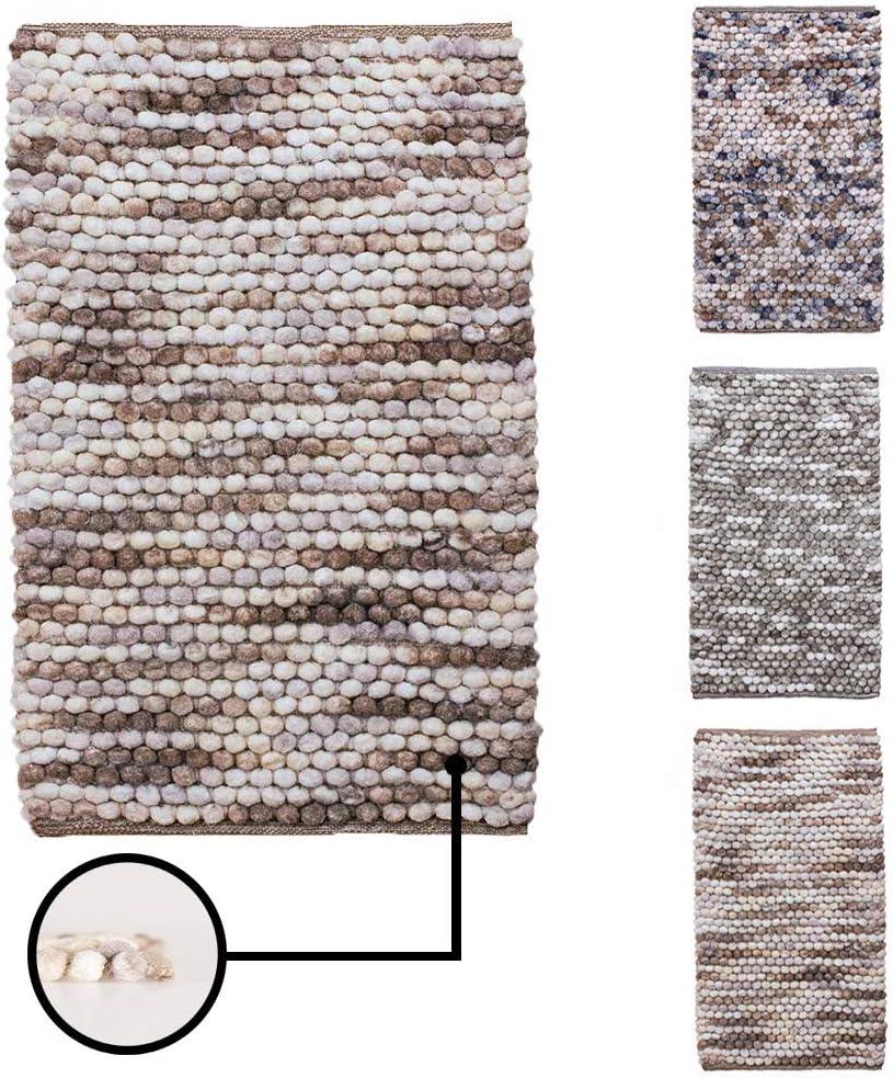 Vani et/érea Badematte waschbar und f/ür Fu/ßbodenheizung geeignet weicher Hochflor Badvorleger Badteppich Braun Beige 50x80 cm Duschvorleger