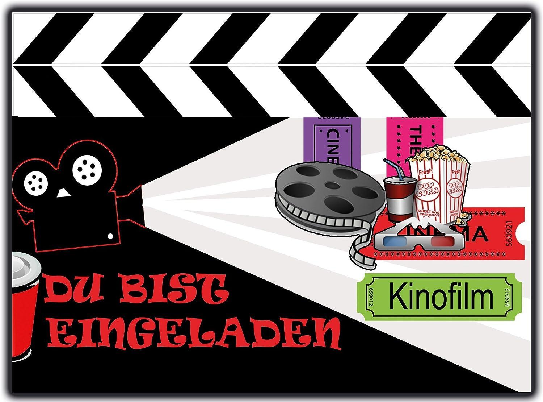 Einladungskarten Kindergeburtstag Kino Kinoparty Film   10 Stück   Zum  Ausfüllen: Amazon.de: Bürobedarf U0026 Schreibwaren