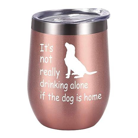Amazon.com: Vaso de vino con tapa de acero inoxidable con ...