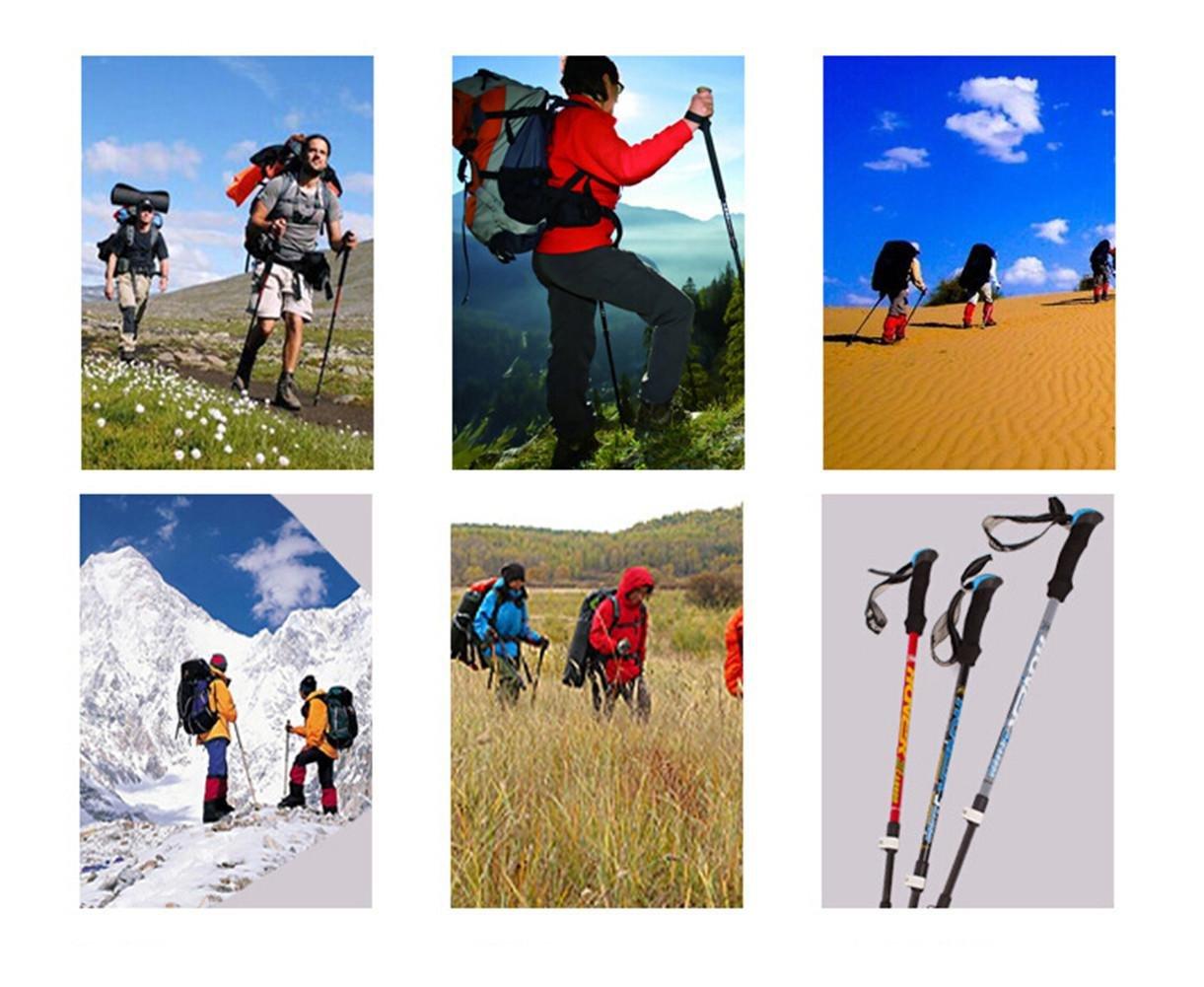 Bastone trekking ultraleggero in in in fibra di carbonio esterno Locking Alpinismo Polo 3 Sezione regolabile bastone da passeggio Trekking bastoncini da sci Alpenstock Climbing Cane Stampelle, B   Materiale preferito    Bella apparenza  63c54a