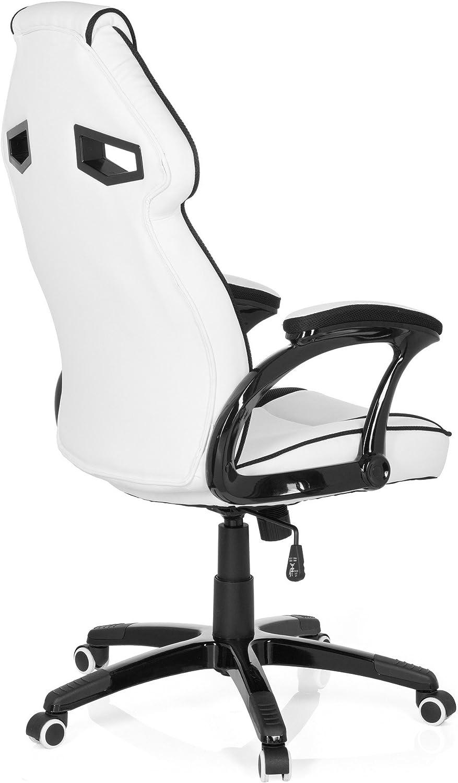 hjh OFFICE 722230 Silla Gaming Guardian Piel sintética Blanco ...