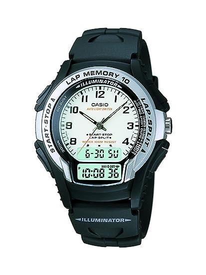 Casio WS-300-7BVSDF - Reloj (Reloj de Pulsera, Resina, Negro