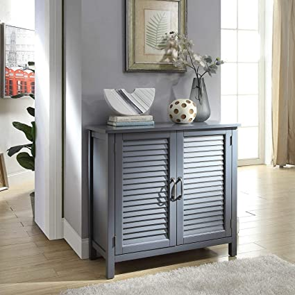 Amazon Com Legacy Home Ltd Gracie Wood Cabinet With Wood Shutter