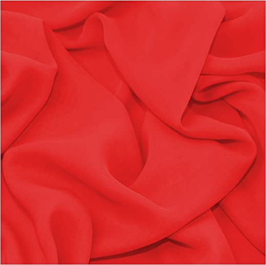 Fabric King Online Premium Crepe Chiffon Plain Dyed Soft Polyester Sheer Fabric 44/45"