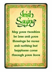 Ireland Epoxy Magnet With Irish Saying With A Celtic boarder Design