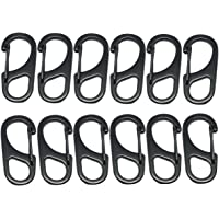 Mini Aluminum Alloy D Carabiner Spring Snap Clip Hooks Keychain Climbing Outdoor