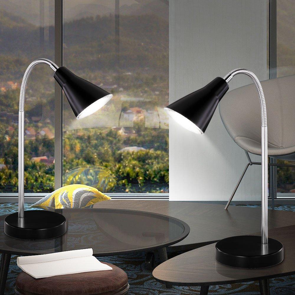 Schreib Tisch Lampe schwarz Arbeits Zimmer Beleuchtung Flexo Arm Lese Leuchte