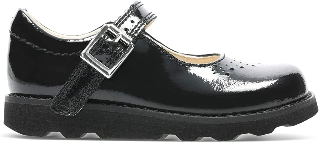 Kenia Formación tengo sueño  Clarks Crown Jump Toddler Leather Shoes in Black Patent: Amazon.co.uk: Shoes  & Bags