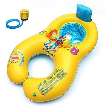 Flotador hinchable, con dos orificios, para natación, nadar en piscina, playa, para bebé o niños niño, de Ete juegos: Amazon.es: Jardín