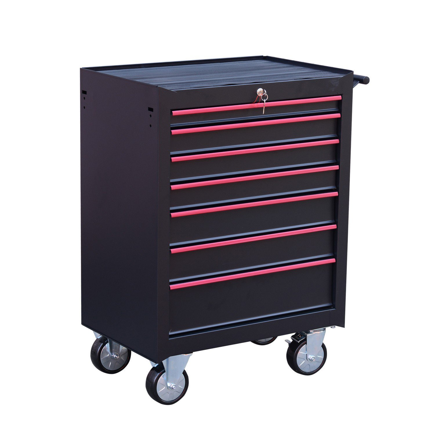 Wheeling Tool Cabinet Chest Cart Drawer Storage Industrial Home Office Organizer With Ebook