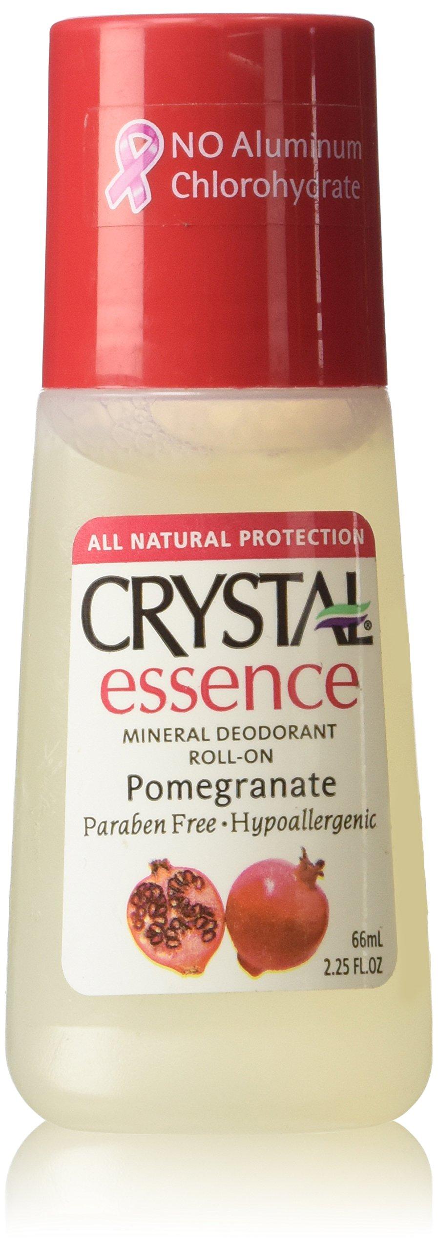 Crystal Body Deodorant Roll-On Pomegranate, 2.25 oz