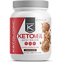 KetoLogic Keto Meal Replacement Shake Powder: Chocolate (20 Servings) – Low Carb, Keto Shake Rich in MCT Oil, Healthy Fats and Whey Protein - Formulated Macros Support Keto Diet & Ketosis