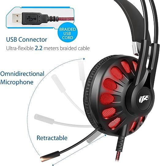 1byone casque audio gaming 7.1 noir