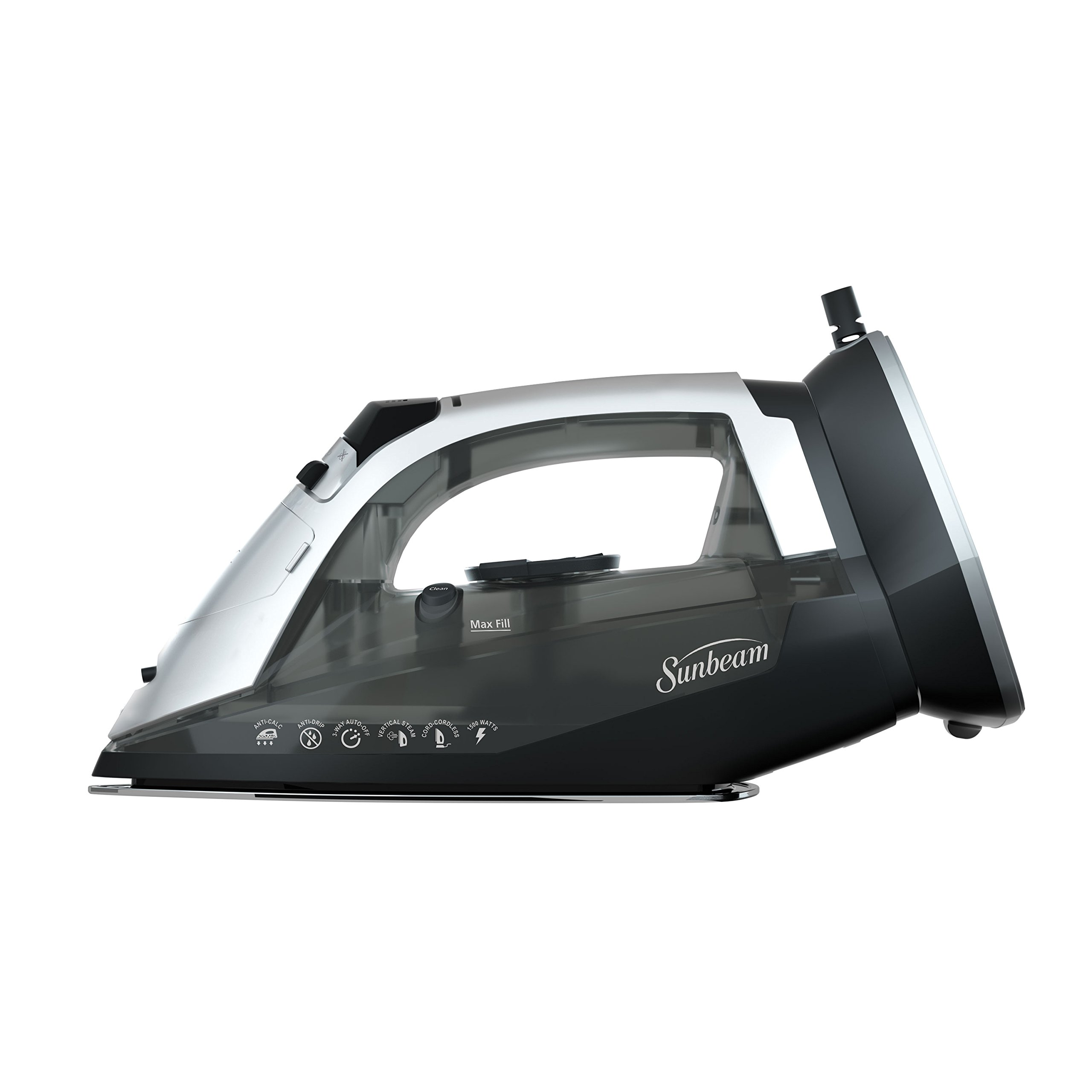 Sunbeam GCSBNC-101-000 Versa Glide Cordless/Corded Iron, Black