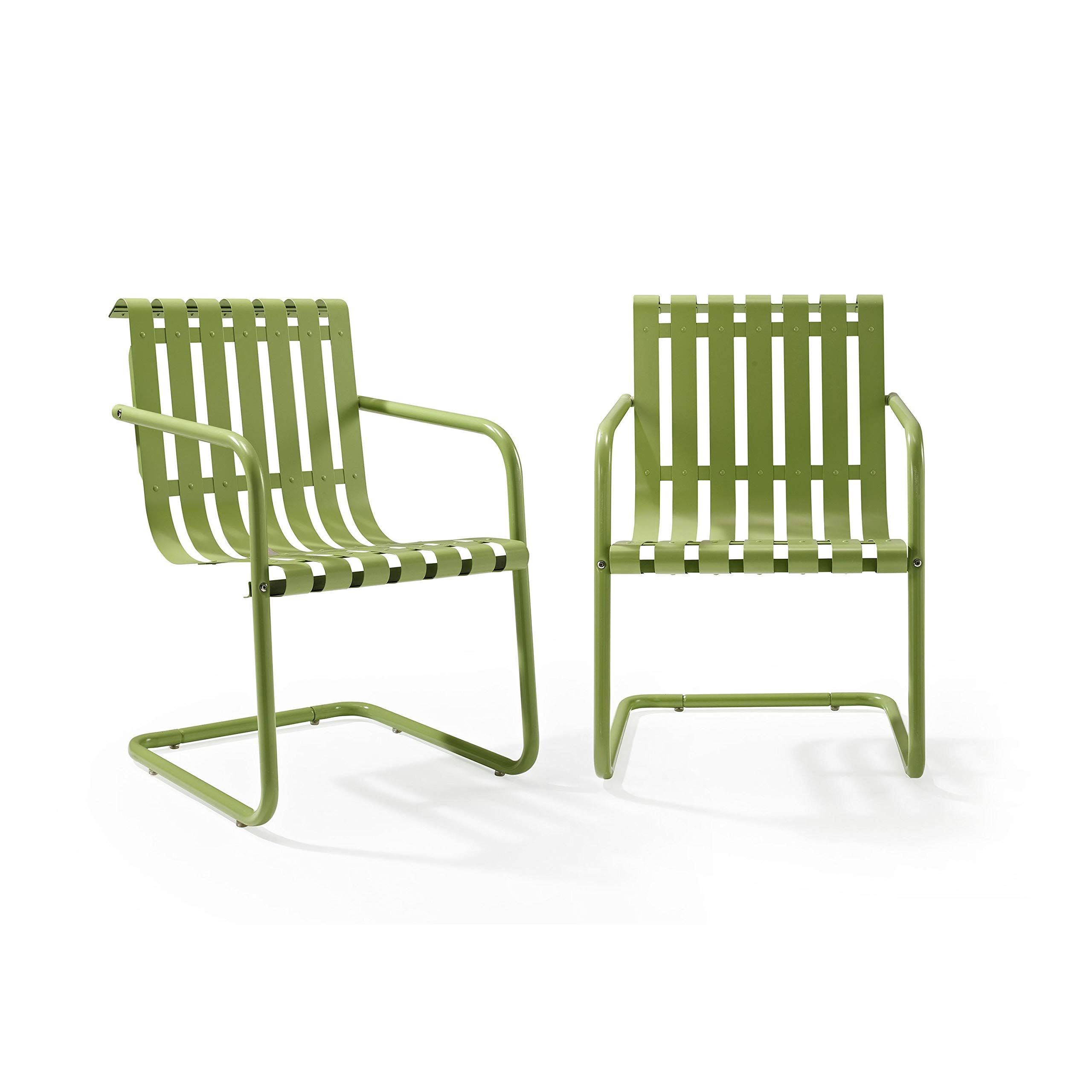 Crosley Furniture Gracie Retro Metal Outdoor Spring Chair - Oasis Green (Set of 2) by Crosley Furniture