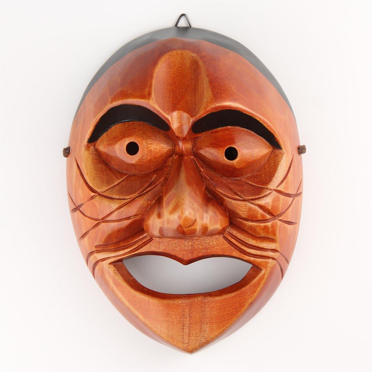 Real Human Face Size Korea Traditional Hahoe Mask Halmi Grandma
