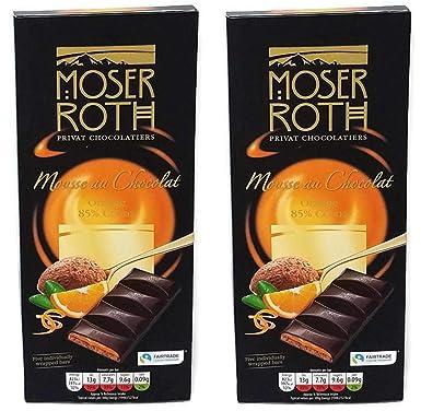 Aldi Moser Roth Mousse Au Chocolat Orange 85 Cocoa Dark