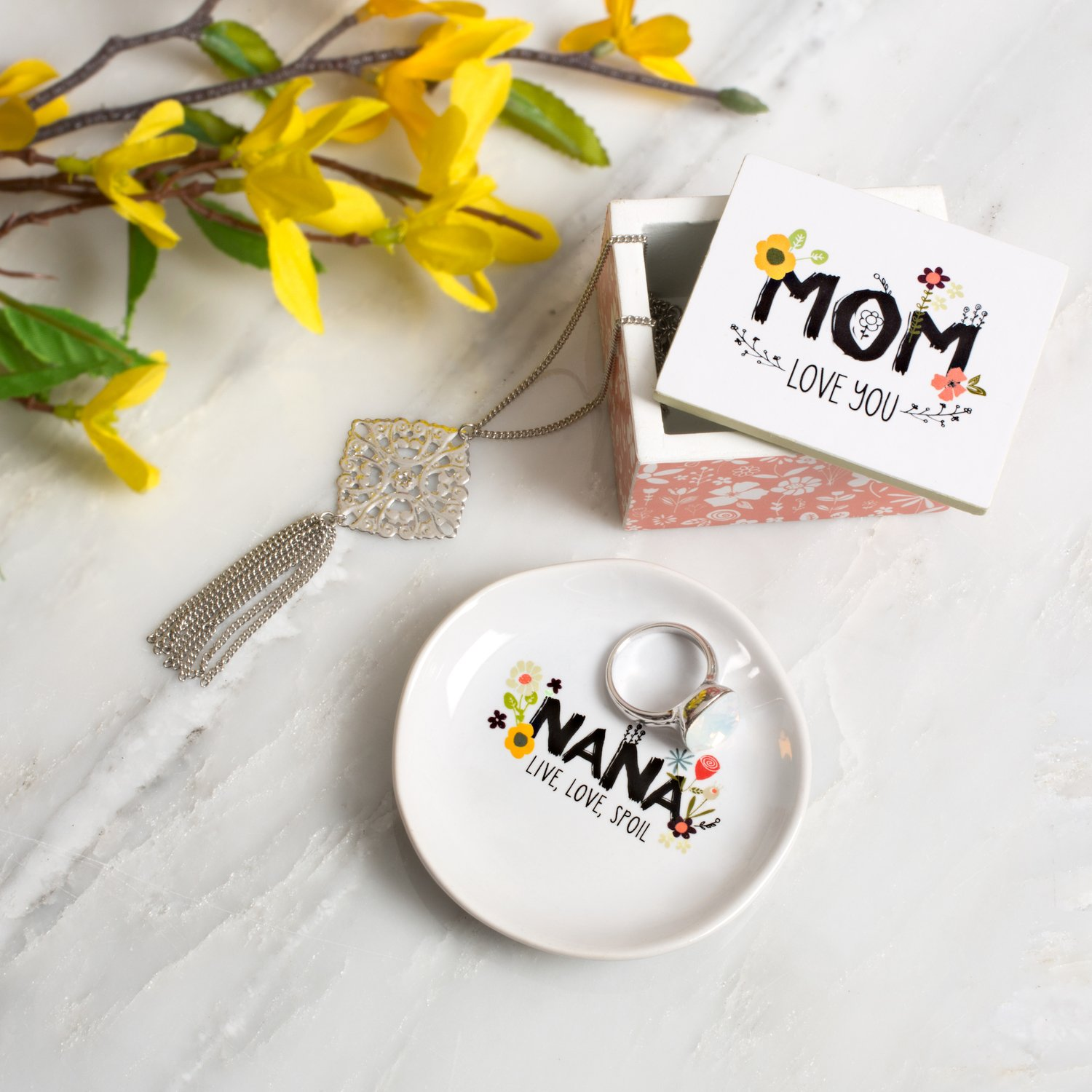 Love You More by Amylee Weeks Mini Jewelry Dish Nana Live Love Spoil