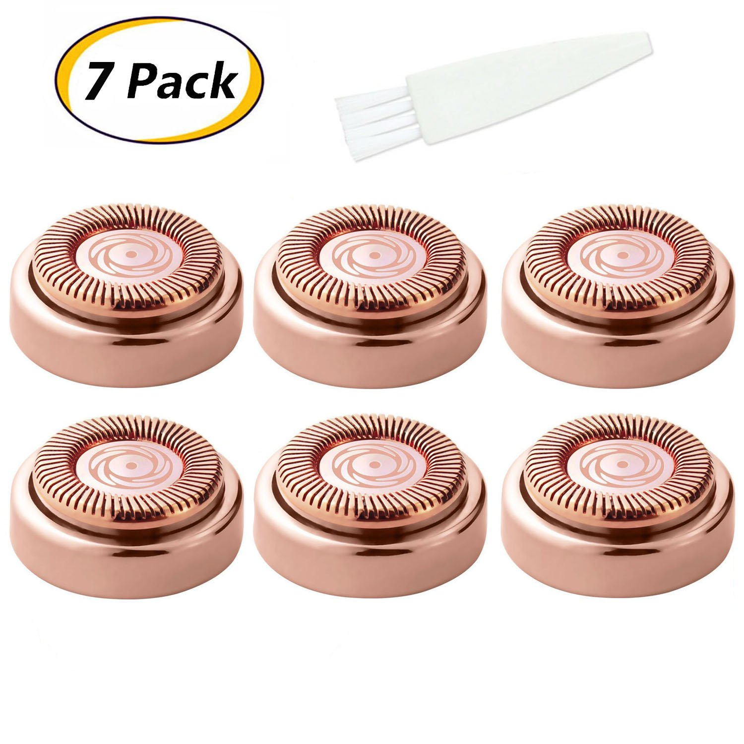 Facial Hair Remover Replacement Heads Replacing Blades for Good Finishing and Well Touching 18K Gold-Plated - 6PACK