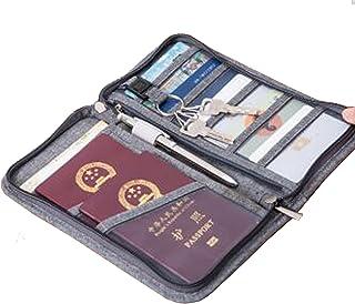 Porta Passaporto Portafogli da viaggio Titolare del Passaporto Copertura del Passaporto di Viaggio, grigio [Dimensione: 23.5x12.5x3cm] Istloho