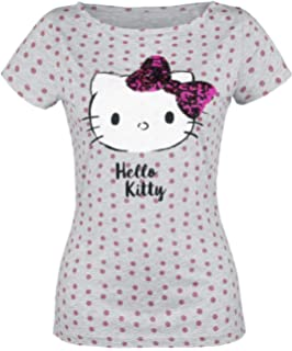 3c1b06528c Hello Kitty Official Sanrio Women's Polka Dot Fitted Top T-Shirt ...
