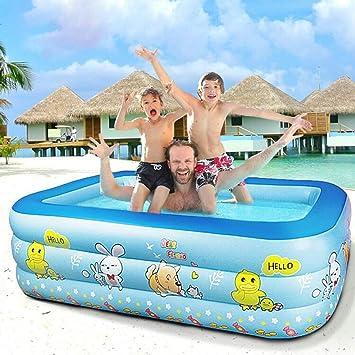 L&WB Piscina Inflable/Piscina para Niños, Bañera Rectangular Engrosada,100cm: Amazon.es: Deportes y aire libre