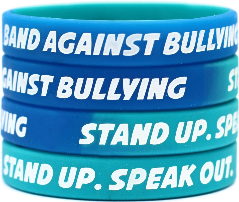 bands bracelets anti bullying wristbands
