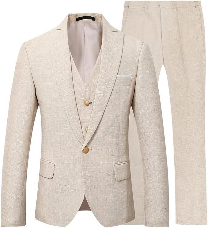 NTNY3 Herrenanzug 3 Teilig Business Slim Fit Anz/üge Herren Modern Sakko Hochzeit Anzughose Hose Blazer