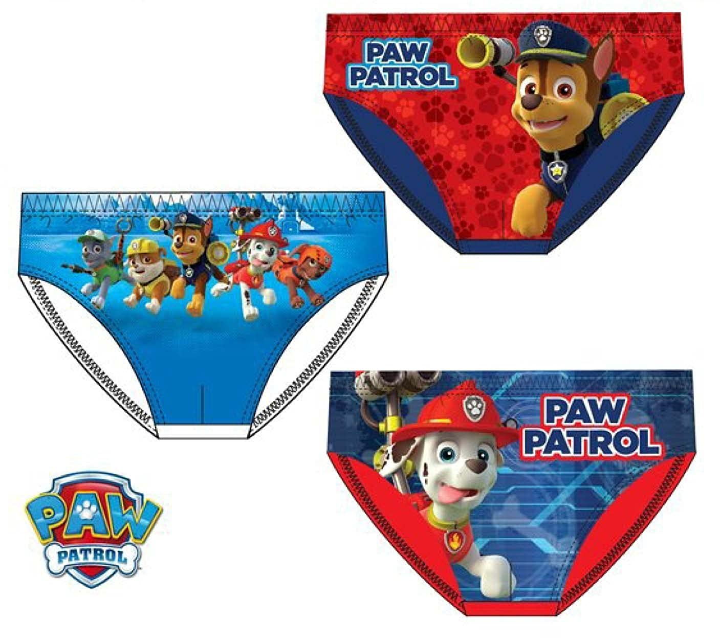 Boys Underwear Briefs Knickers 3-PACK Set 100/% Cotton New 2017 - 6//8 Years Official Nickelodeon Paw Patrol