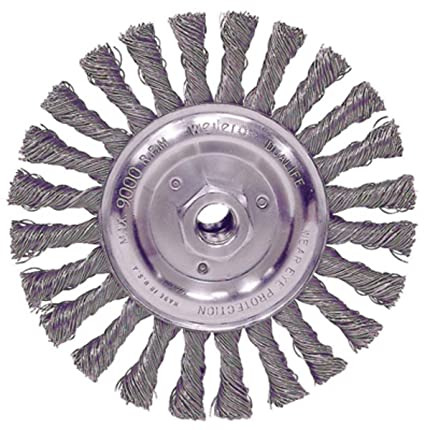 """5/"""" x 5//8-11/"""" Stringer Bead Wire Wheel For Angle Grinder 5 Pack Carbon Steel"""