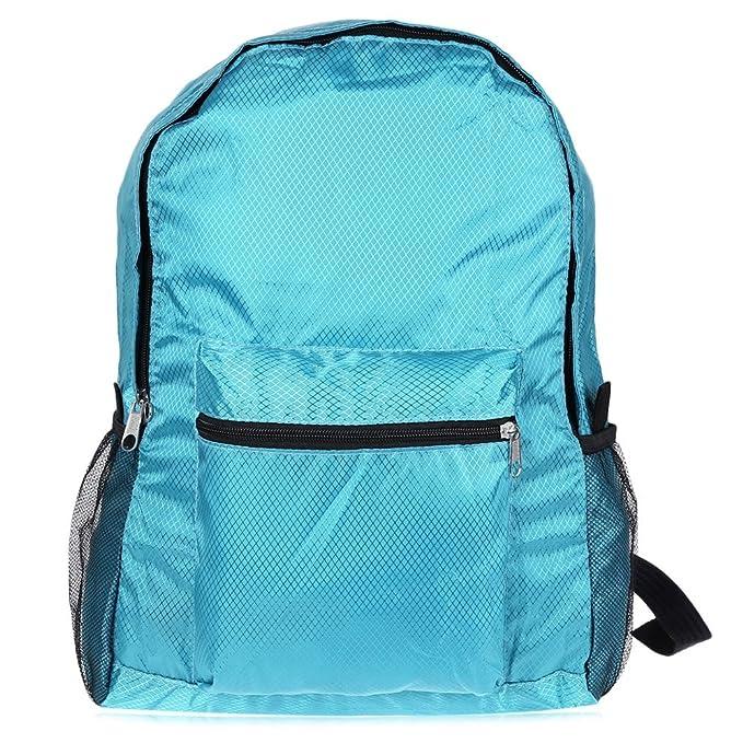 Wenquan,Mochila resistente de nylon plegable de agua de la mochila para acampar caminando deportes