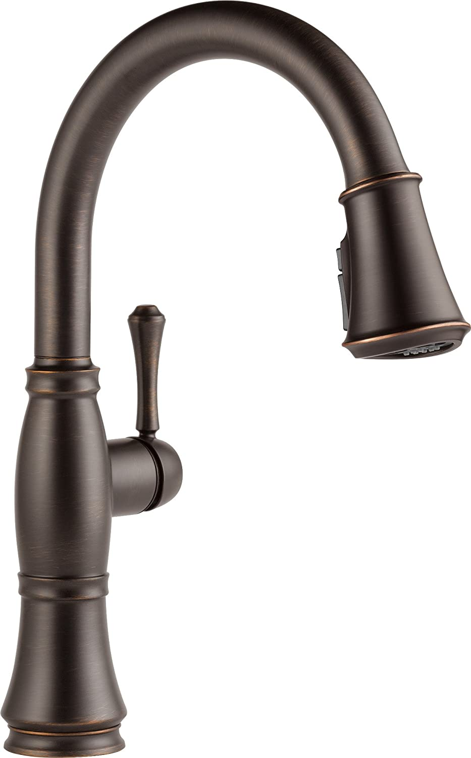 Delta Faucet Cassidy Single-Handle Kitchen Sink Faucet with Pull Down Sprayer, ShieldSpray Technology and Magnetic Docking Spray Head, Venetian Bronze 9197-RB-DST