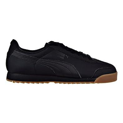 Puma Roma Basic Summer Jr Big Kid s Shoes Puma Black 359841-12 (4 M f06ab9d6b