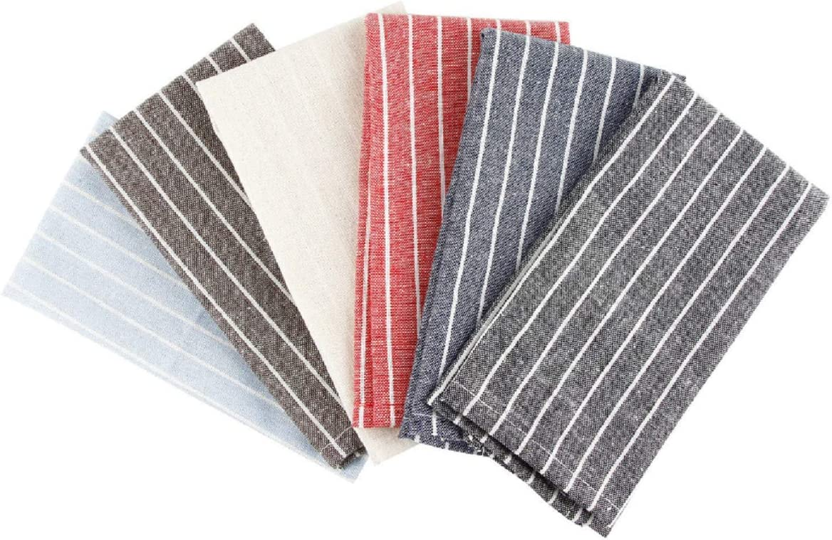 "SMARTitns Cotton Dinner Napkins Cloth Kitchen Table Linens Multi-Colors,Durable - Ideal for Events & Regular Home Use - 6 Pack (12"" x16""): Home & Kitchen"